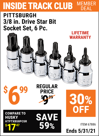 Harbor Freight Tools Coupons, Harbor Freight Coupon, HF Coupons-Pisttsburgh 6 Piece, 3/8