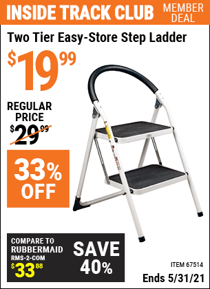 Harbor Freight Tools Coupons, Harbor Freight Coupon, HF Coupons-Two Tier Easy-store Step Ladder
