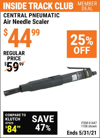 Harbor Freight Tools Coupons, Harbor Freight Coupon, HF Coupons-Air Needle Scaler #2
