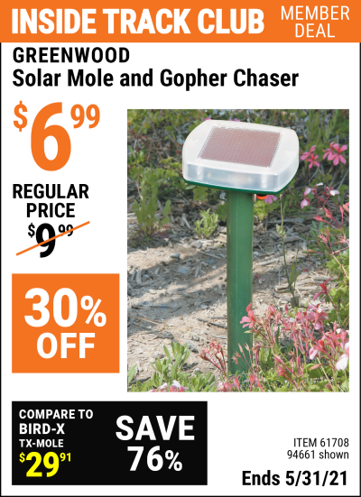 Harbor Freight Tools Coupons, Harbor Freight Coupon, HF Coupons-Solar Mole Chaser