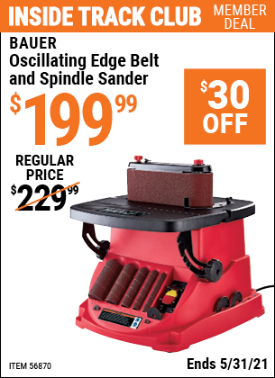 Harbor Freight Tools Coupons, Harbor Freight Coupon, HF Coupons-Oscillating Edge Belt and Spindle Sander