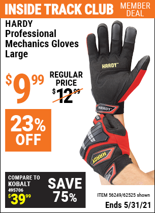 Harbor Freight Tools Coupons, Harbor Freight Coupon, HF Coupons-Hardy Professional Mechanic's Gloves