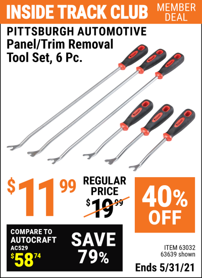 Harbor Freight Tools Coupons, Harbor Freight Coupon, HF Coupons-Panel/trim Removal Tool Set 6 Pc.