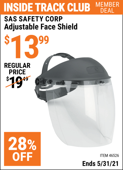 Harbor Freight Tools Coupons, Harbor Freight Coupon, HF Coupons-Adjustable Face Shield