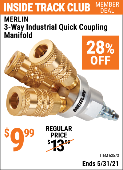 Harbor Freight Tools Coupons, Harbor Freight Coupon, HF Coupons-3-way Industrial Quick Coupling Manifold