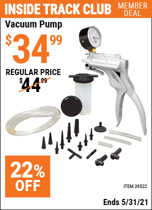 Harbor Freight Tools Coupons, Harbor Freight Coupon, HF Coupons-Vacuum Pump