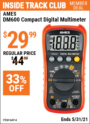 Harbor Freight Tools Coupons, Harbor Freight Coupon, HF Coupons-Ames Compact Sized Digital Multimeter
