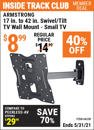 Harbor Freight Tools Coupons, Harbor Freight Coupon, HF Coupons-Swivel/tilt Tv Wall Mount