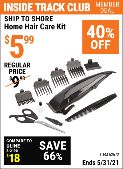 Harbor Freight Tools Coupons, Harbor Freight Coupon, HF Coupons-Home Hair Care Kit