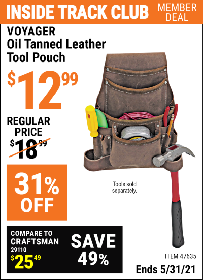 Harbor Freight Tools Coupons, Harbor Freight Coupon, HF Coupons-Oil Tanned Leather Tool Pouch