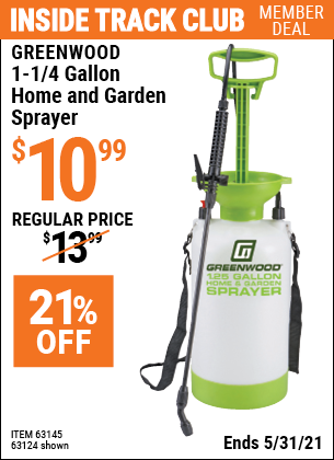 Harbor Freight Tools Coupons, Harbor Freight Coupon, HF Coupons-1-1/4 Gallon Home And Garden Spayer