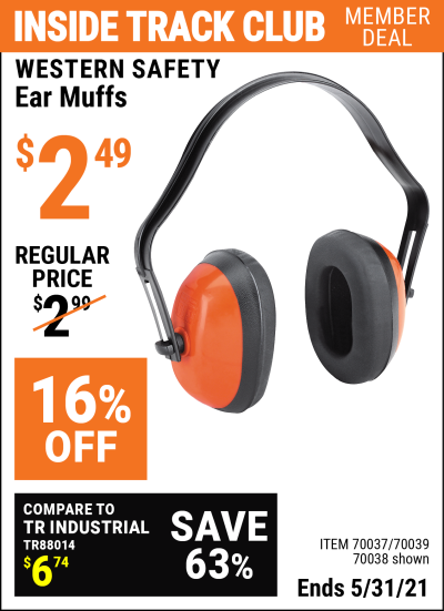 Harbor Freight Tools Coupons, Harbor Freight Coupon, HF Coupons-Industrial Ear Muffs