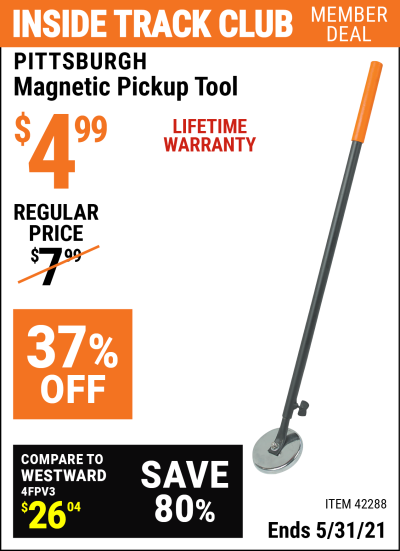 Harbor Freight Tools Coupons, Harbor Freight Coupon, HF Coupons-Heavy Duty Magnetic Pickup Tool