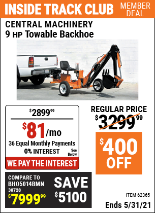 Harbor Freight Tools Coupons, Harbor Freight Coupon, HF Coupons-Towable Ride-on Trencher