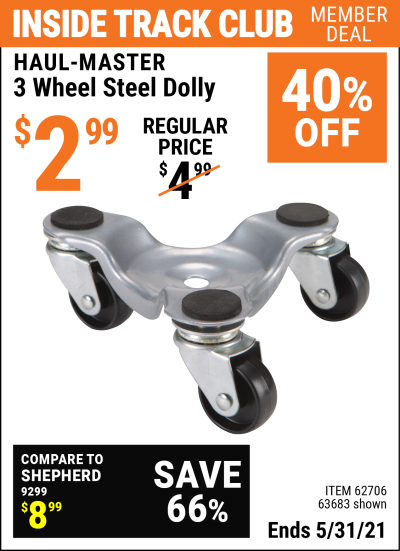 Harbor Freight Tools Coupons, Harbor Freight Coupon, HF Coupons-3 Wheel Movers Dolly