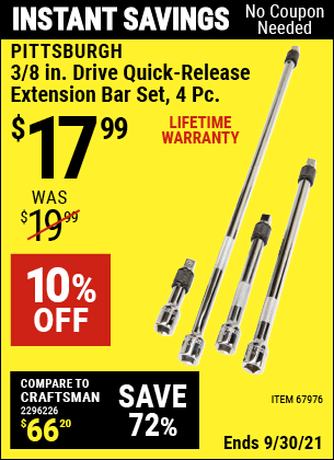 Harbor Freight Tools Coupons, Harbor Freight Coupon, HF Coupons-4 Piece 3/8