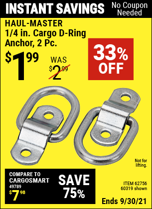 Harbor Freight Tools Coupons, Harbor Freight Coupon, HF Coupons-2 Piece, 1/4