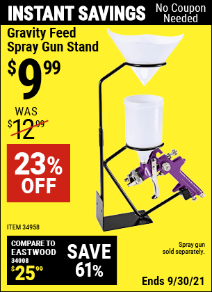Harbor Freight Tools Coupons, Harbor Freight Coupon, HF Coupons-Gravity Feed Spray Gun Stand