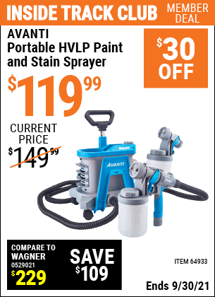 Harbor Freight Tools Coupons, Harbor Freight Coupon, HF Coupons-Avanti Hvlp Portable Paint Sprayer