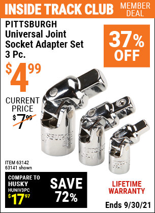 Harbor Freight Tools Coupons, Harbor Freight Coupon, HF Coupons-Universal Joint Socket Adapter Set, 3 Pc.