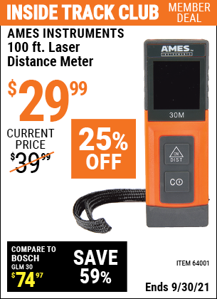 Harbor Freight Tools Coupons, Harbor Freight Coupon, HF Coupons-100ft. Laser Distance Meter
