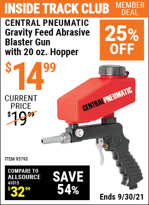 Harbor Freight Tools Coupons, Harbor Freight Coupon, HF Coupons-20 Oz. Hopper Gravity Feed Spot Blaster Gun