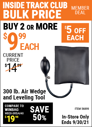 Harbor Freight Tools Coupons, Harbor Freight Coupon, HF Coupons-300 lb.  Air Wedge and Leveling Tool