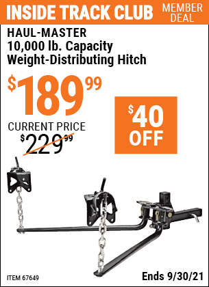 Harbor Freight Tools Coupons, Harbor Freight Coupon, HF Coupons-10,000 Lb. Capacity Weight-distributing Hitch System