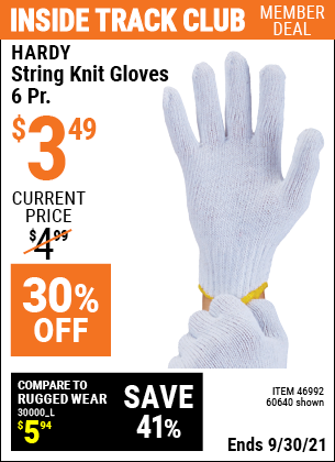 Harbor Freight Tools Coupons, Harbor Freight Coupon, HF Coupons-String Knit Gloves- 6 Pairs