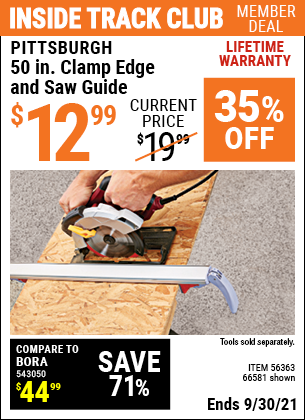 Harbor Freight Tools Coupons, Harbor Freight Coupon, HF Coupons-50 Clamp Edge And Saw Guide