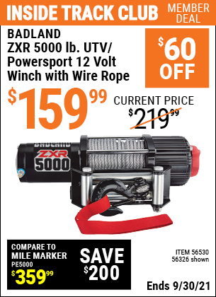 Harbor Freight Tools Coupons, Harbor Freight Coupon, HF Coupons-BADLAD ZXR 5000 lb.
