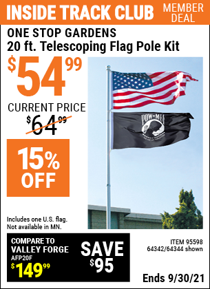 Harbor Freight Tools Coupons, Harbor Freight Coupon, HF Coupons-20 Ft. Telescoping Flag Pole