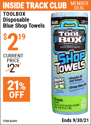 Harbor Freight Tools Coupons, Harbor Freight Coupon, HF Coupons-Disposable Blue Shop Towels