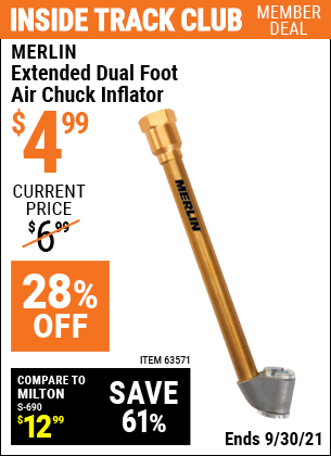 Harbor Freight Tools Coupons, Harbor Freight Coupon, HF Coupons-Extended Dual Foot Air Chuck Inflator