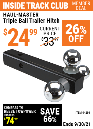 Harbor Freight Tools Coupons, Harbor Freight Coupon, HF Coupons-Haul Master Triple Ball Hitch