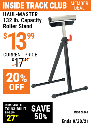 Harbor Freight Tools Coupons, Harbor Freight Coupon, HF Coupons-32lb. Capacity Roller Stand