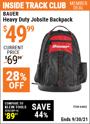 Harbor Freight Tools Coupons, Harbor Freight Coupon, HF Coupons-Heavy Duty Jobsite Backpack