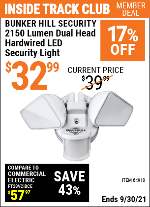 Harbor Freight Tools Coupons, Harbor Freight Coupon, HF Coupons-2150 Lumens Hardwired Led Security Light