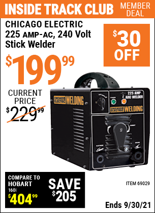 Harbor Freight Tools Coupons, Harbor Freight Coupon, HF Coupons-225 Amp-ac 240 Volt Stick Welder