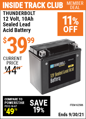 Harbor Freight Tools Coupons, Harbor Freight Coupon, HF Coupons-12v 10 Ah Sealed Lead Acid Battery