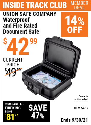 Harbor Freight Tools Coupons, Harbor Freight Coupon, HF Coupons-Fire Rated And Waterproof Document Safe