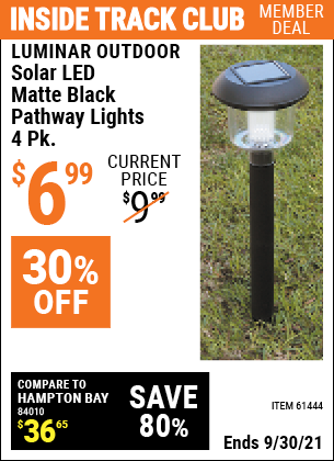 Harbor Freight Tools Coupons, Harbor Freight Coupon, HF Coupons-4 Piece White Led Solar Light Set