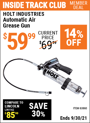 Harbor Freight Tools Coupons, Harbor Freight Coupon, HF Coupons-Automatic Air Grease Gun