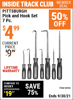 Harbor Freight Tools Coupons, Harbor Freight Coupon, HF Coupons-7 Piece Pick And Hook Set