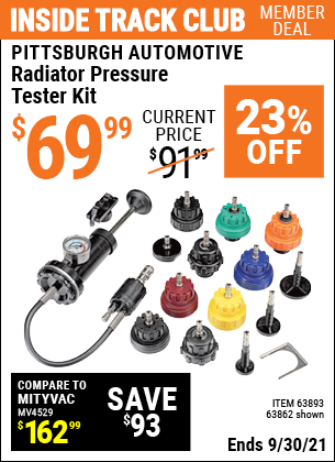 Harbor Freight Tools Coupons, Harbor Freight Coupon, HF Coupons-Radiator Pressure Tester Kit
