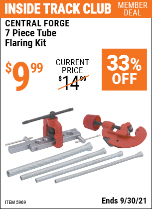 Harbor Freight Tools Coupons, Harbor Freight Coupon, HF Coupons-7 Piece Tube Flaring Kit