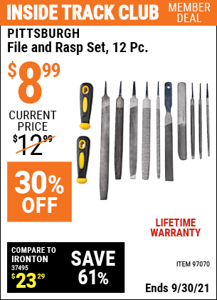 Harbor Freight Tools Coupons, Harbor Freight Coupon, HF Coupons-12 Piece File And Rasp Set