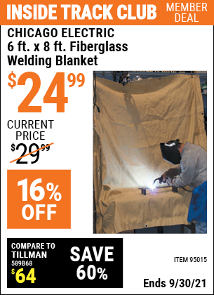 Harbor Freight Tools Coupons, Harbor Freight Coupon, HF Coupons-6 Ft. X 8 Ft. Fiberglass Welding Blanket