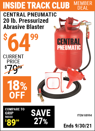 Harbor Freight Tools Coupons, Harbor Freight Coupon, HF Coupons-20 Lb. Pressurized Abrasive Blaster