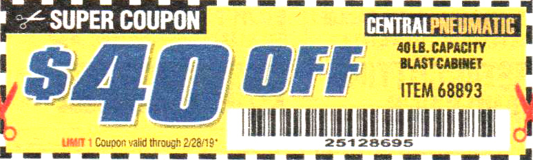 Harbor Freight Tools Coupons, Harbor Freight Coupon, HF Coupons-40% off coupon for any item